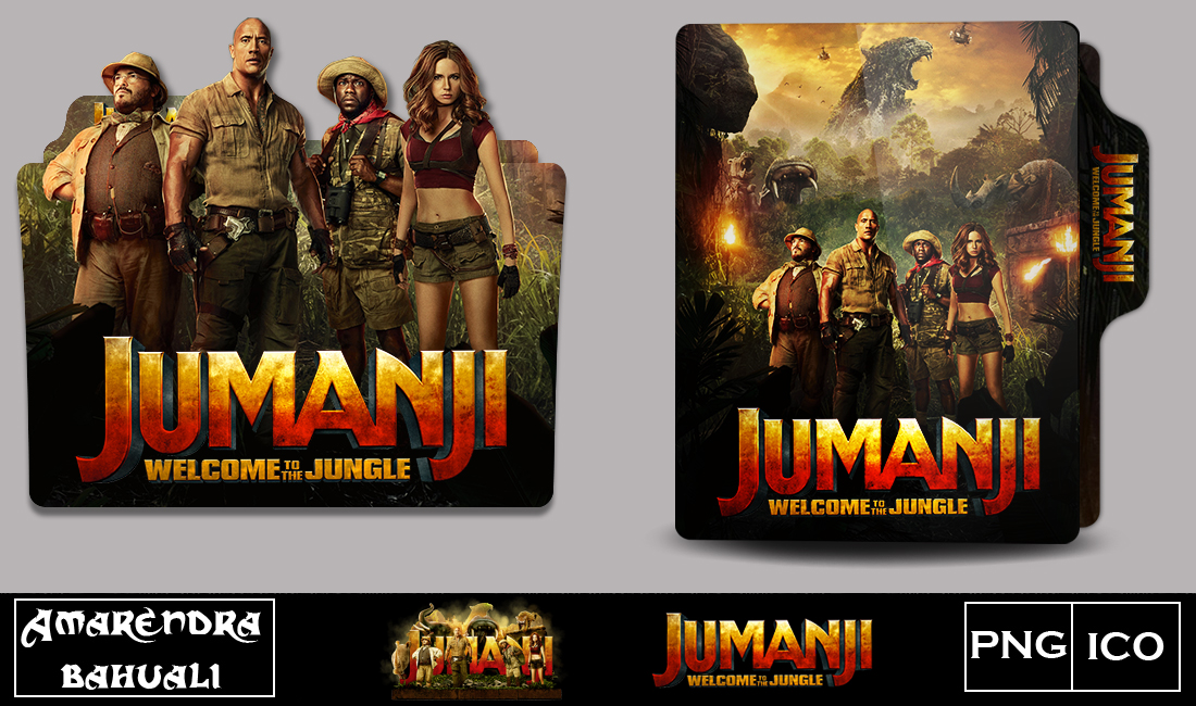 Jumanji Welcome to the Jungle (2017) folder icon by G0D-0F