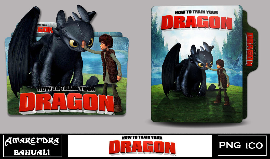 How To Train Your Dragon 2010 Folder Icon By G0d 0f Thund3r On Deviantart