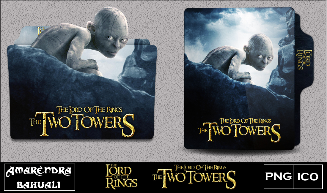 The Two Towers 2002 Folder Icon 1 By G0d 0f Thund3r On Deviantart
