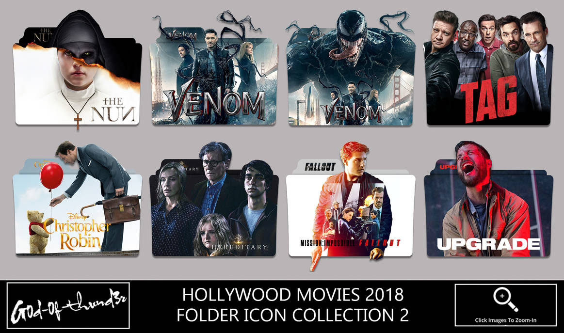 Hollywood Movies 2018 Folder Icon Collection 2 by G0D-0F