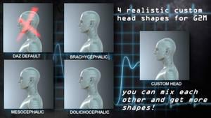 HS Cranium/Head Shapes For G2M -FREEBIE by HeavenSkies