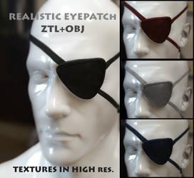 FREEBIE - Realistic Eyepatch OBJ+ZTL+TEXTURES by HeavenSkies