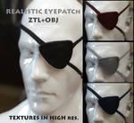 FREEBIE - Realistic Eyepatch OBJ+ZTL+TEXTURES