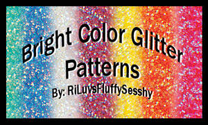 Bright Color Glitter Patterns