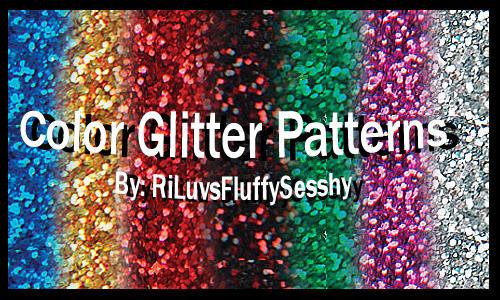 Color Glitter Patterns by RiLuvsFluffySesshy