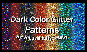 Dark Color Glitter Patterns
