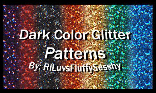 Dark Color Glitter Patterns by RiLuvsFluffySesshy