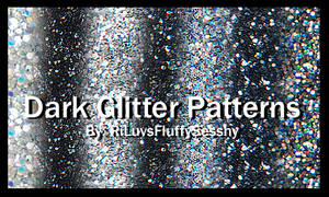 Dark Glitter Patterns