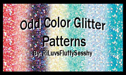Odd Color Glitter Patterns by RiLuvsFluffySesshy