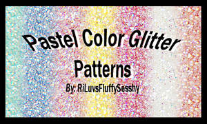 Pastel Color Glitter Patterns