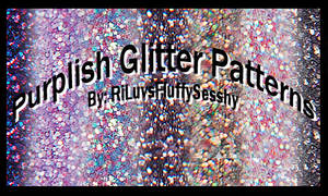 Purplish Glitter Patterns