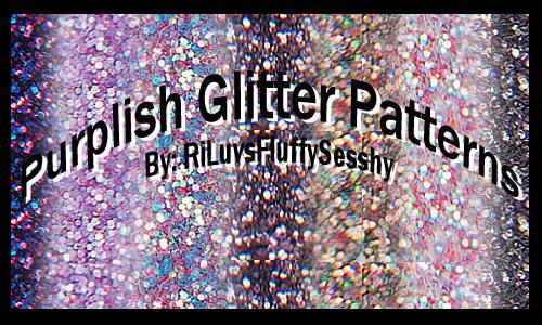 Purplish Glitter Patterns by RiLuvsFluffySesshy
