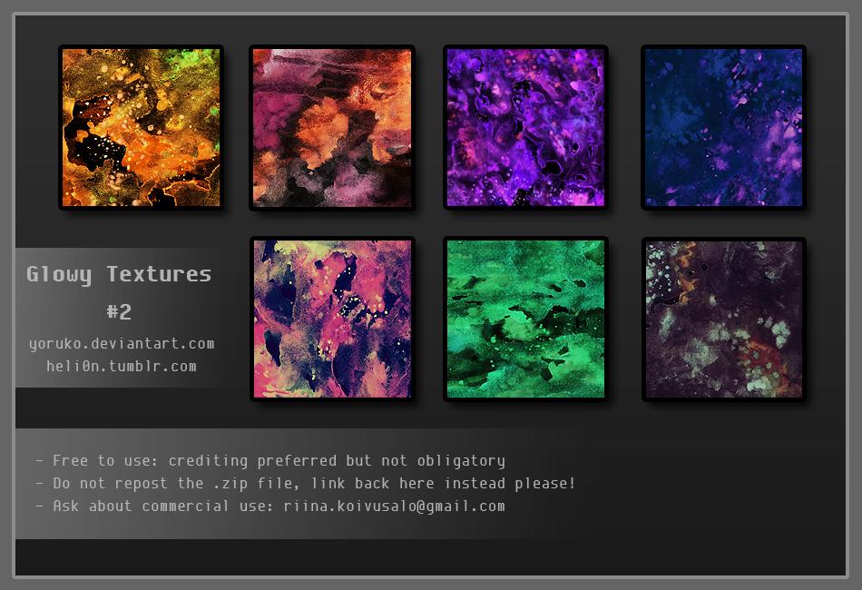 Glowy Textures #2 by Yoruko
