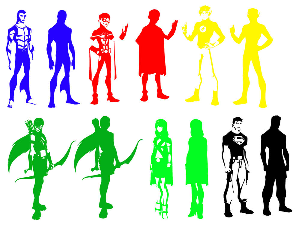 Young Justice Brushes by zutara-canon