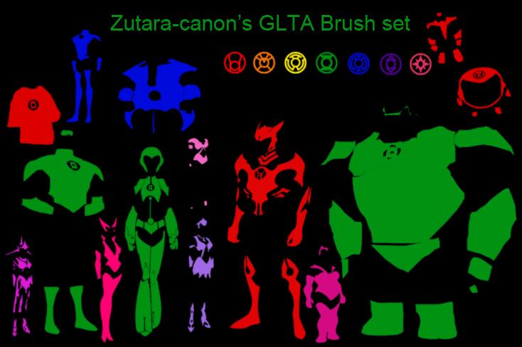 Green lantern brush set by zutara-canon