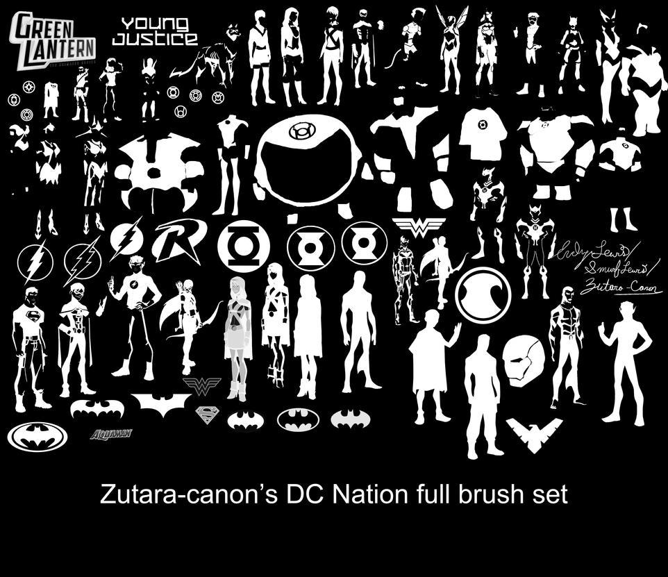 DCNation Brush Set by zutara-canon