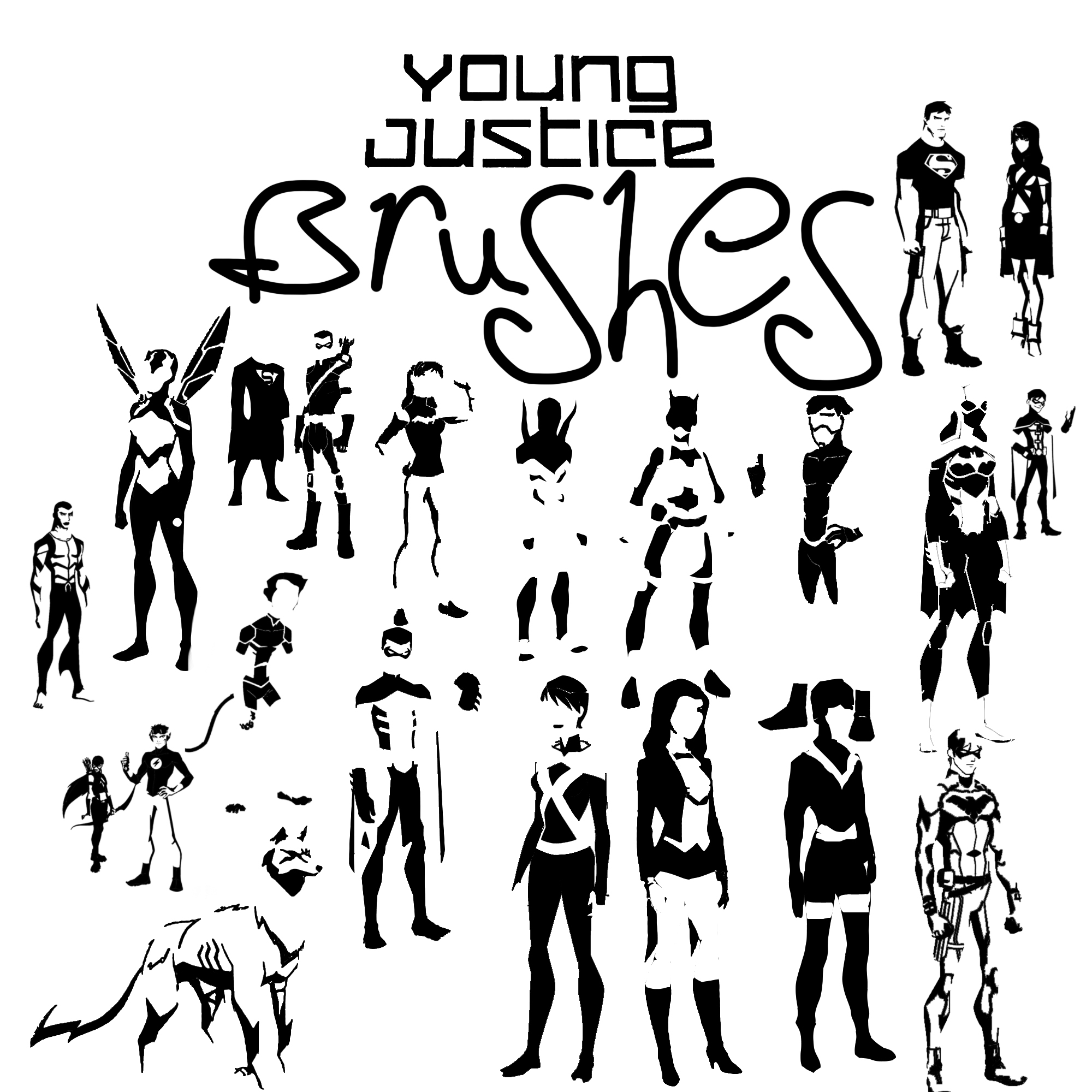 Full Young Justice Brush pack by zutara-canon