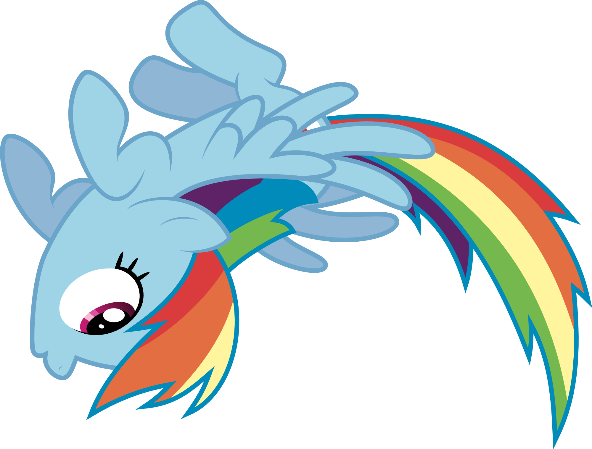 Rainbow Dash Flying Png