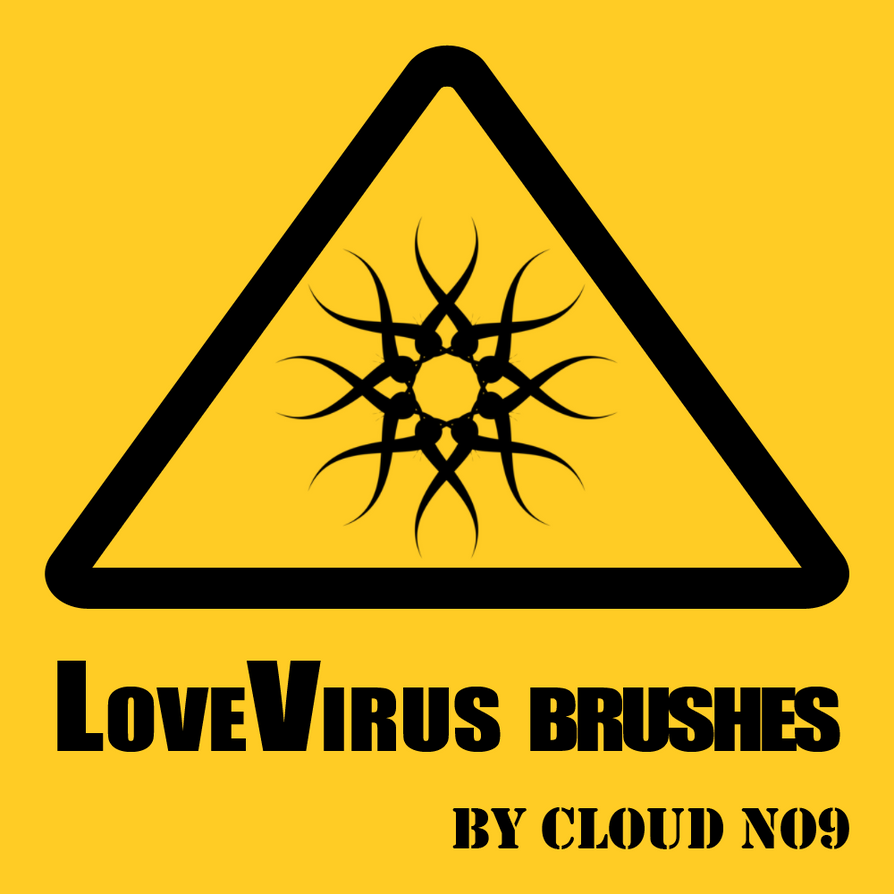LoveVirus Brushes by cloud-no9
