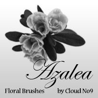 Floral Brushes - Azalea by cloud-no9