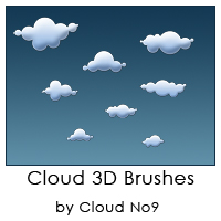Cloud 3D Brushes ver.1 by cloud-no9