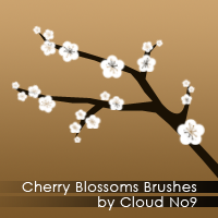 Cherry Blossoms Brushes by cloud-no9