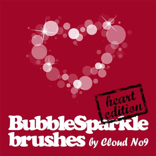 BubbleSparkle Heart Brushes
