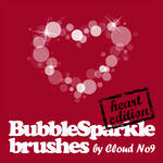 BubbleSparkle Heart Brushes