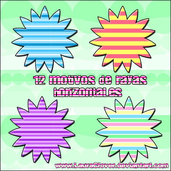 Motivos de rayas horizontales by lauraclover on deviantart - Rayas horizontales ...