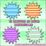 Motivos de rayas horizontales
