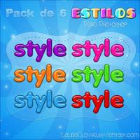 Pack de 6 estilos