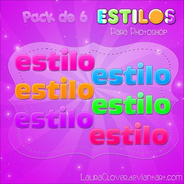 Pack de Estilos de Colores by LauraClover