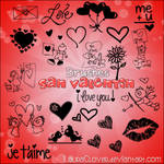 Pack de brushes San Valentin