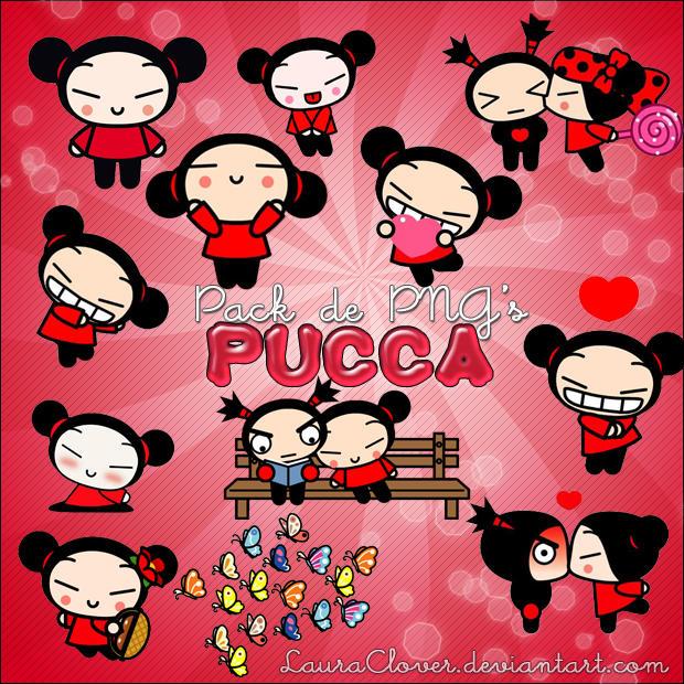 Pack de PNG's de Pucca by LauraClover
