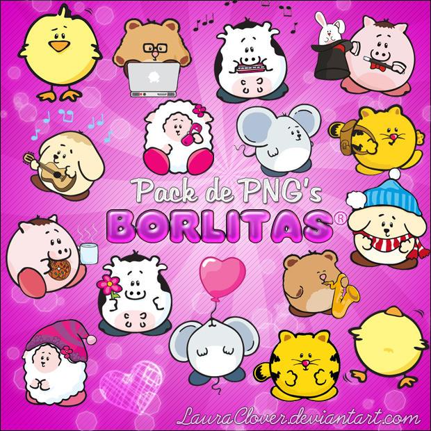 Pack de PNG's de Borlitas by LauraClover