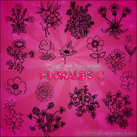 Pack de brushes Florales 2 by LauraClover