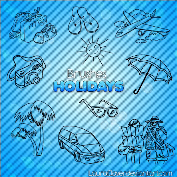 Pack de brushes Holidays