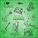 Pack de brushes Music