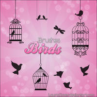Pack de brushes Birds by LauraClover