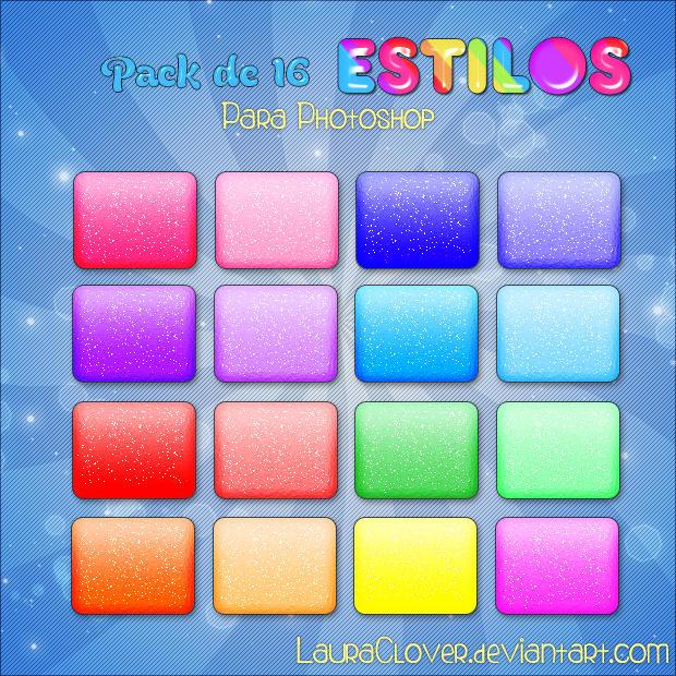 Pack de Estilos Glitter by LauraClover