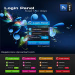 Login Panel PSD file by IC