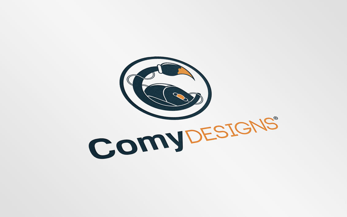 Realistic Logo Mock-Up  (Free Download) by ComyDesigns