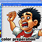 color preparation action by Pablocomics