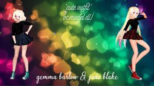 Gemma and Jade OC MMD Model DL TDA