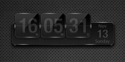 BlackMetal FlipClock for XWidget by xwidgetsoft