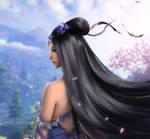 HunLiu Cherry blossoms (Mute) XDesktop Wallpaper by xwidgetsoft
