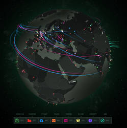 Cybermap active wallpaper for XDesktop