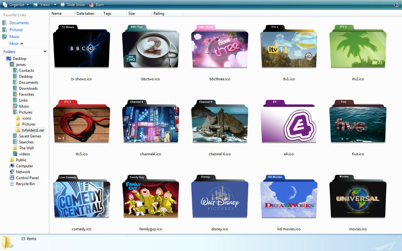 tv folder icons 1 by jmcaulayj
