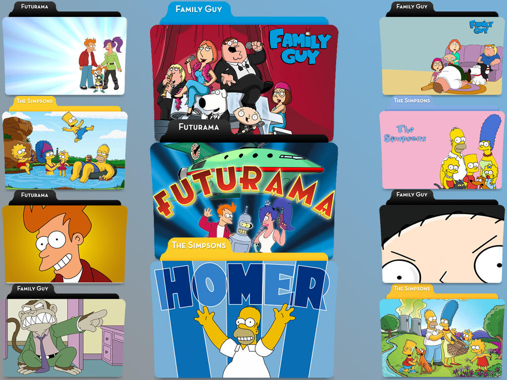 Simpsons, Futurama, Family Guy by jmcaulayj