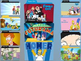 Simpsons, Futurama, Family Guy by jmcaulayj